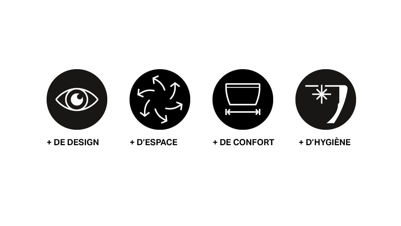 Les 4 avantages du WC suspendus Geberit